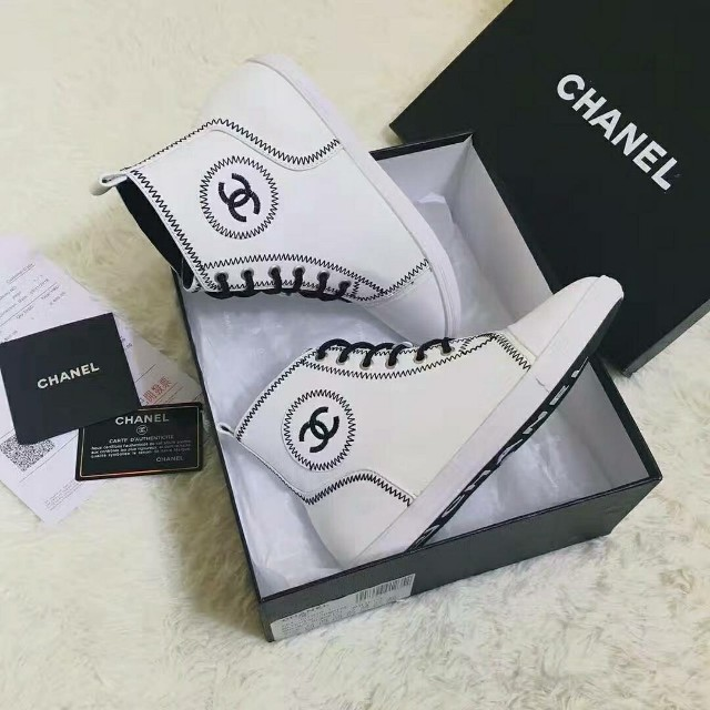 Chanel High Top Sneakers Women S Fashion Shoes On Carousell