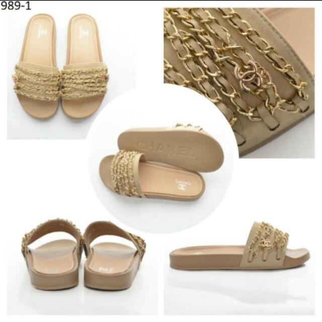 Chanel slide sandal 2 warna