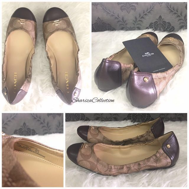 0ef1c435a44 ... order coach flat shoes womens fashion shoes on carousell 2609d ad23d