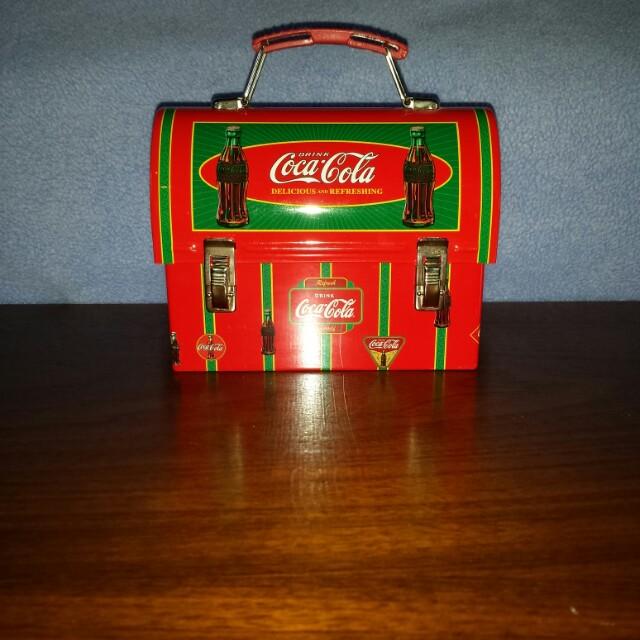 Coca-Cola lunchbox type tin
