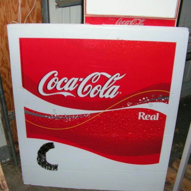 Coca-Cola sign outside