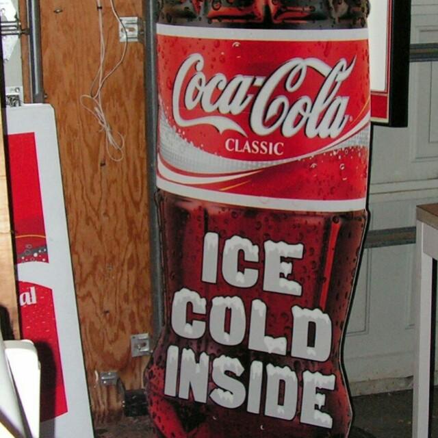 Coke bottle sign