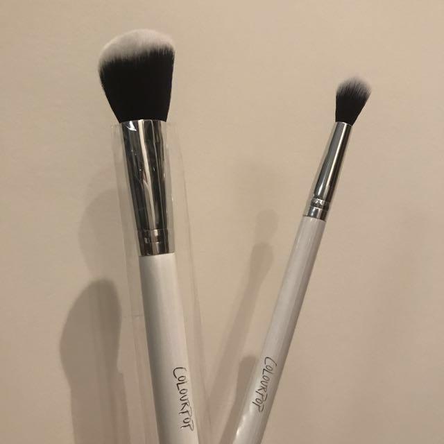 Colourpop contour brush & eyeshadow brush 全新 修容刷 眼影刷