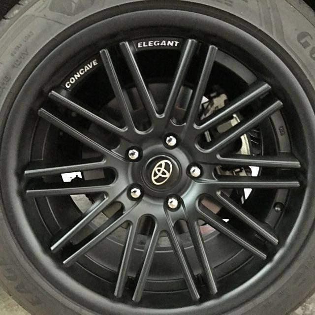 concave 18 inch sport rims all black for sale car accessories on carousell. Black Bedroom Furniture Sets. Home Design Ideas