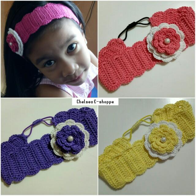 Crochet Flower Headbands On Carousell