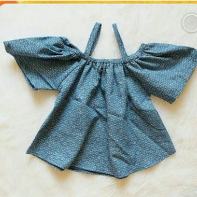 Denim off shoulder (for toddler)