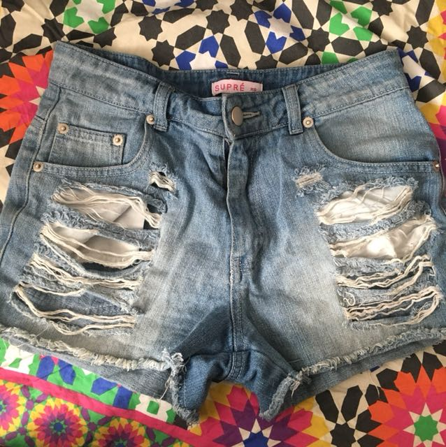 Denim Ripped shorts