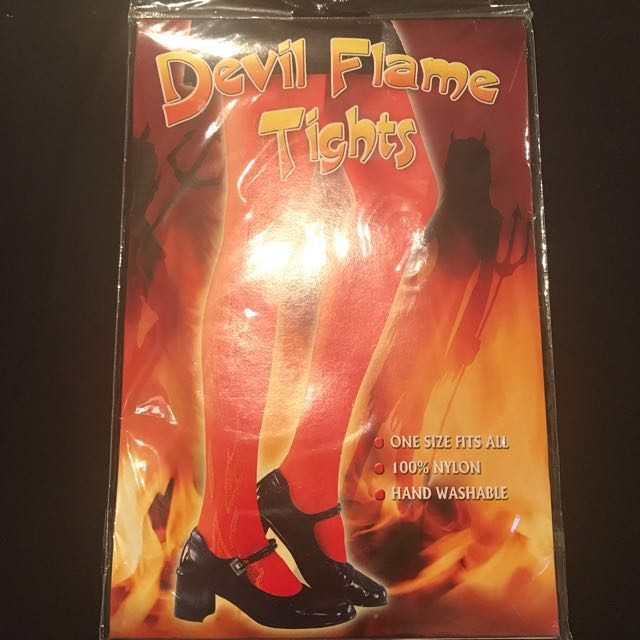 Devil Flame Red Tights
