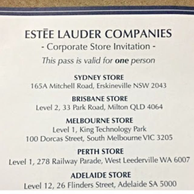 Estēe Lauder Entry Pass