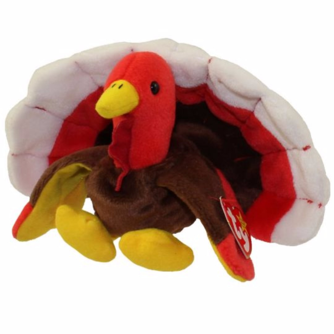 Ty Beanie Baby Gobbles The Turkey *all Tags Attached* Excellent Condition Discounts Sale 1996