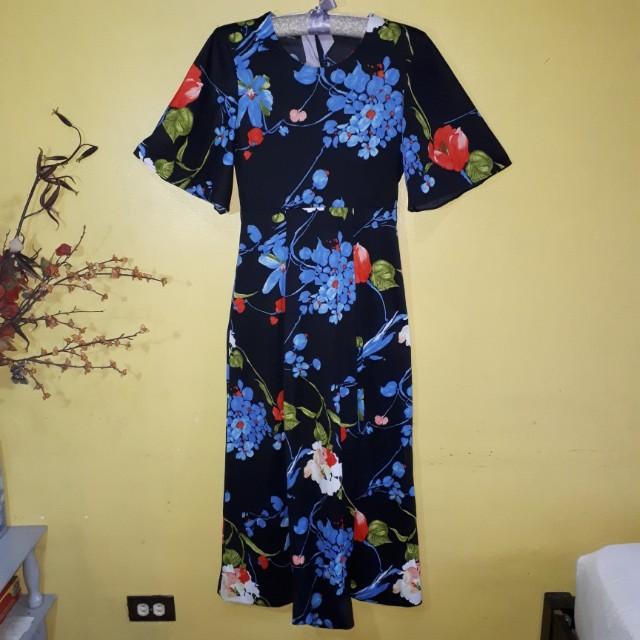 Floral Maxi Dress (stretch)