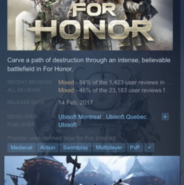 FOR HONOR, Toys & Games, Video Gaming, Video Games on Carousell