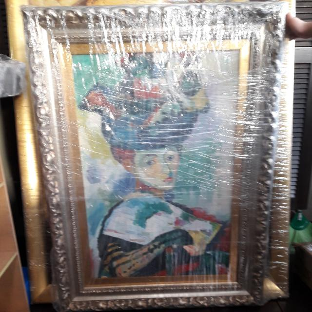 Framed Renaissance Lady Oil Painting
