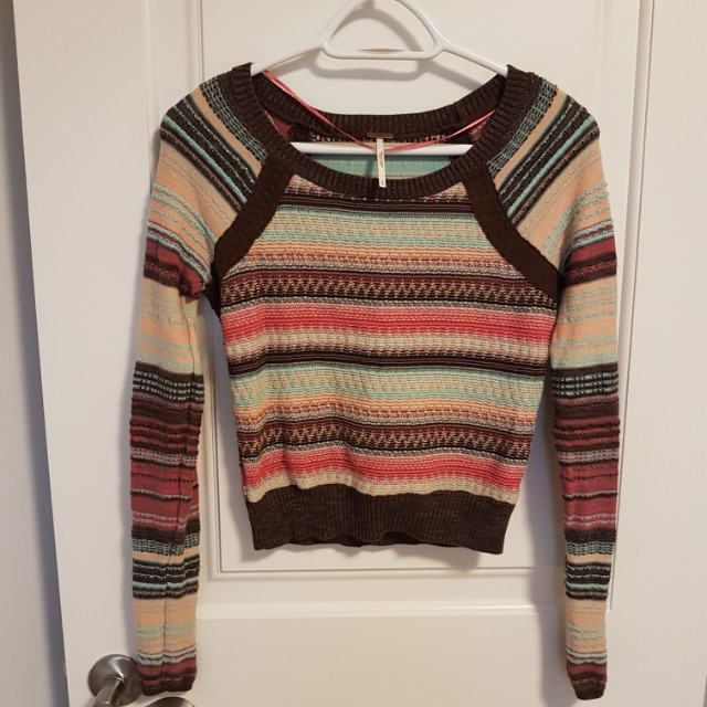 Free People Cropped Knit long sleeve
