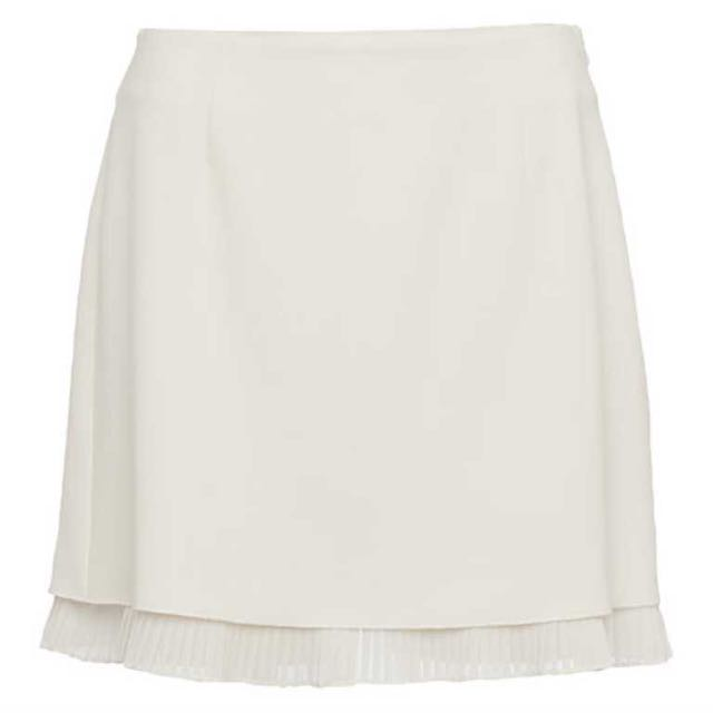 French connection mini white skirt pleated 10