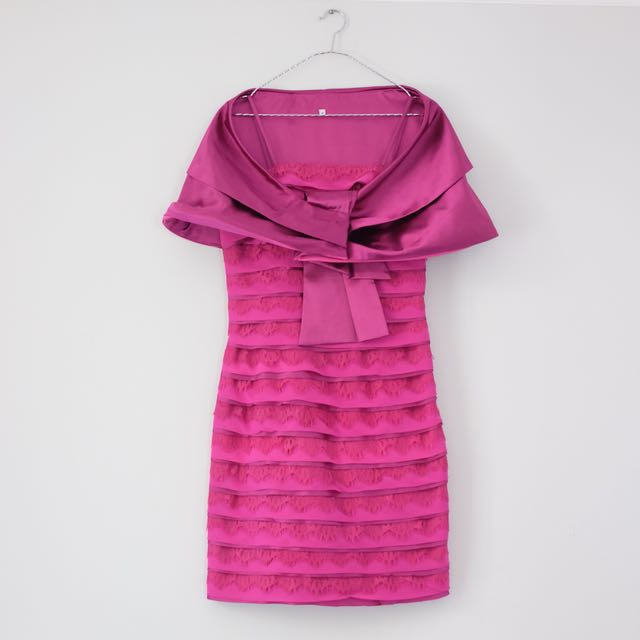 Fuschia Cape Dress