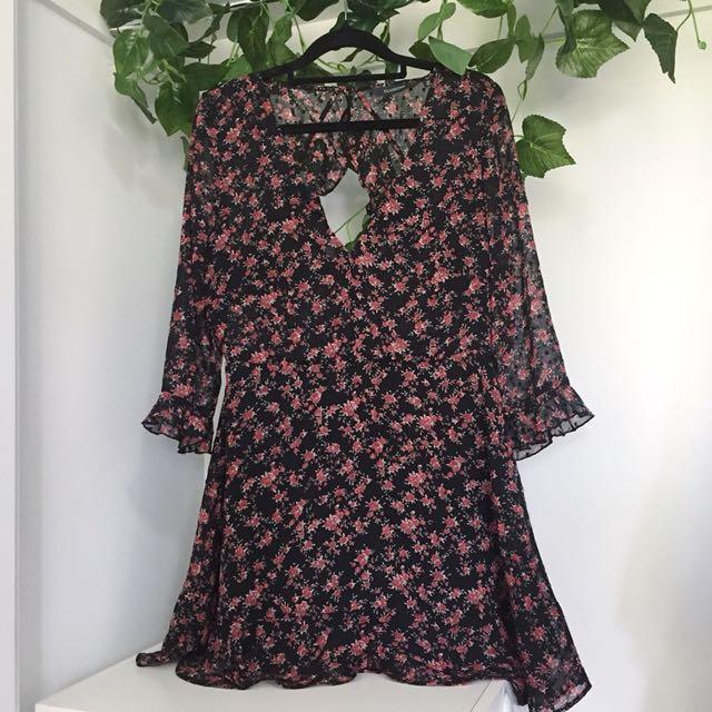 Glassons Floral / Polka Dot Print Dress