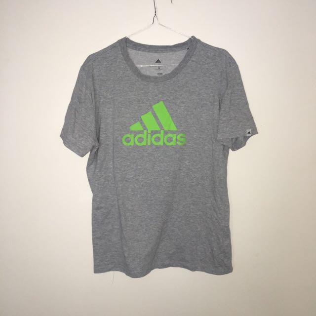 Grey And Green Adidas Tshirt