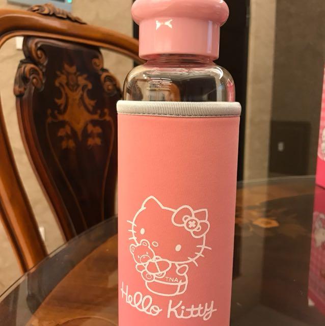 Hello Kitty耐熱玻璃水瓶保鮮盒