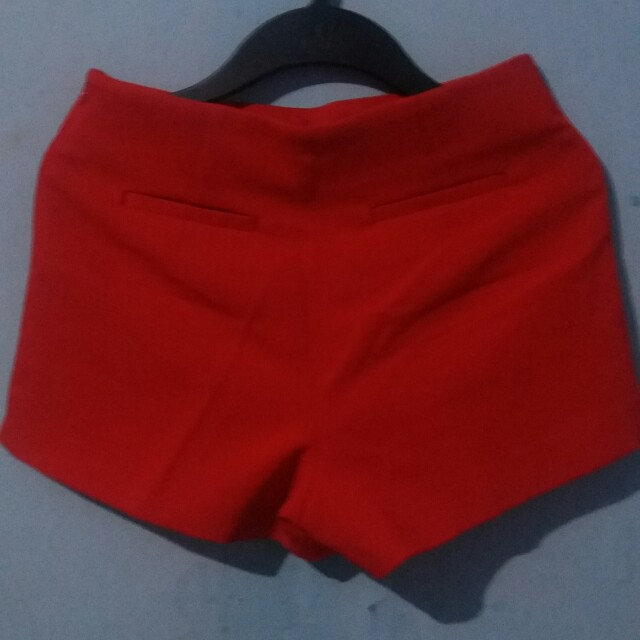 Highwaist Red Short