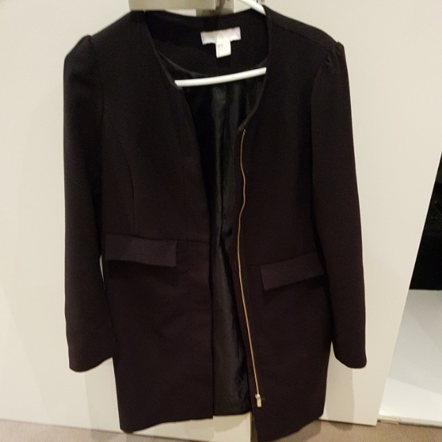 H&M black coat
