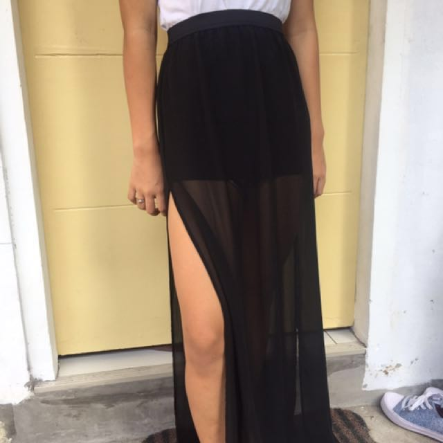H&M long skirt with slit