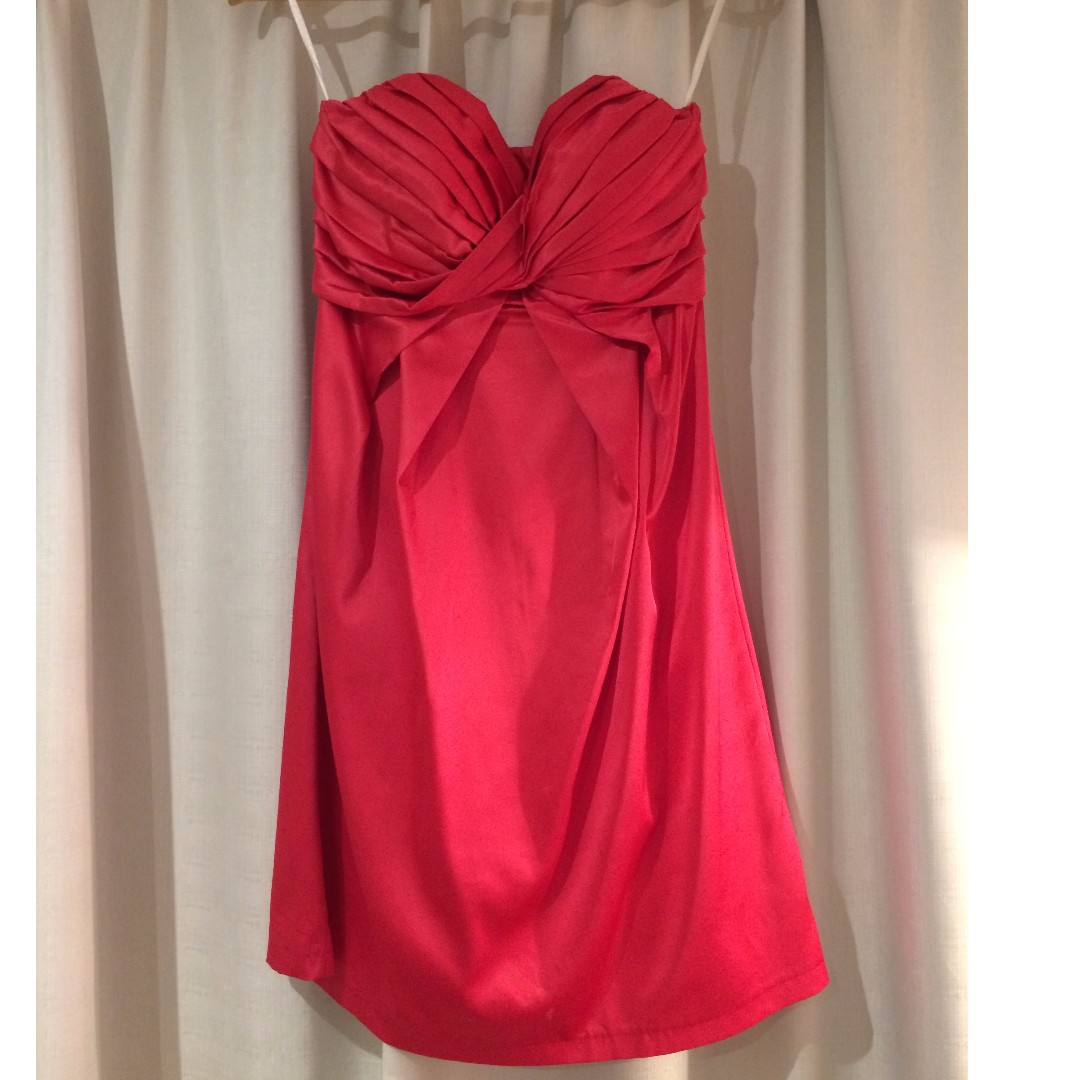 f0243b9110 FREE SHIPPING Hot pink strapless Sheike dress - size 8 PRICE DROPPED ...