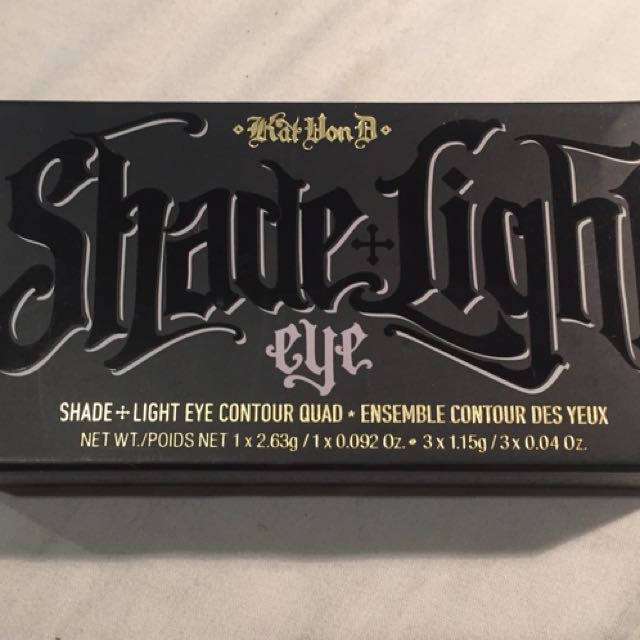 Kat Von D Shade and Light Smoke Quad Brand New