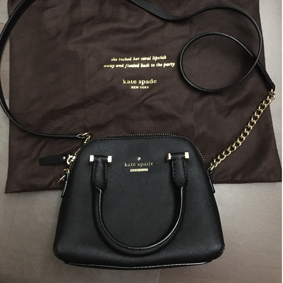 Kate Spade Black Cedar Street Maisie Mini Crossbody Bag Womens Katespade Maise Fashion Bags Wallets On Carousell