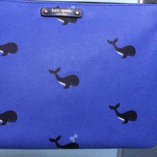Kate spade pouch whale blud