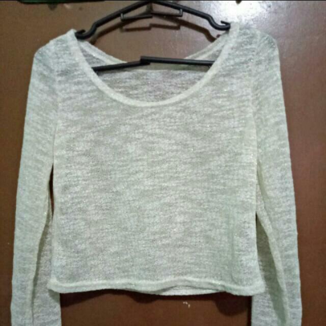 Knitted Crop Top (Beige)