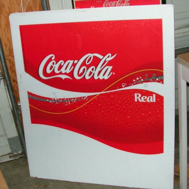 Large Coca-Cola sign
