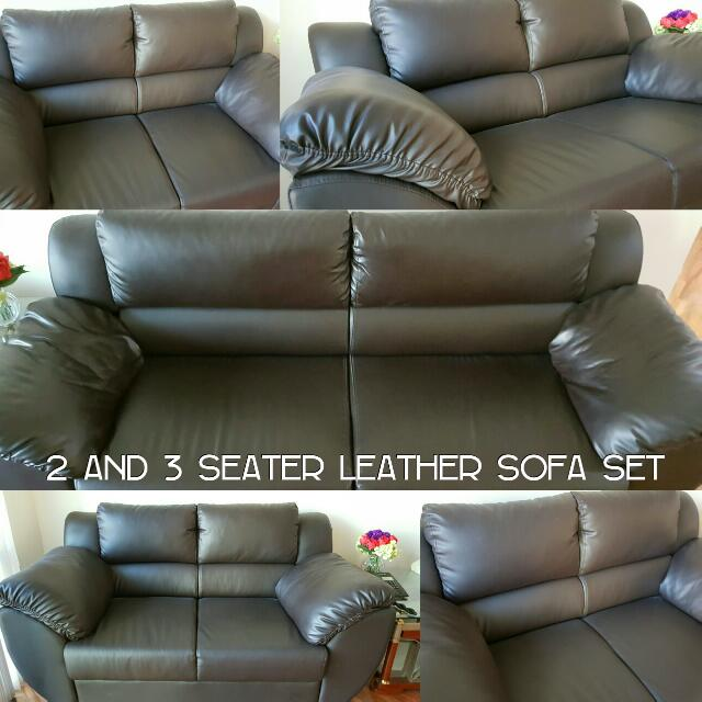 RUSH SALE: Leather Sofa Set in 2 and 3 Seater