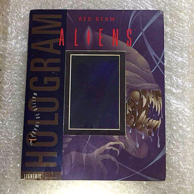 """Lightrix Red Beam ALIENS Queen Alien Matted 3D Image Hologram 8""""x10"""" (1993)"""