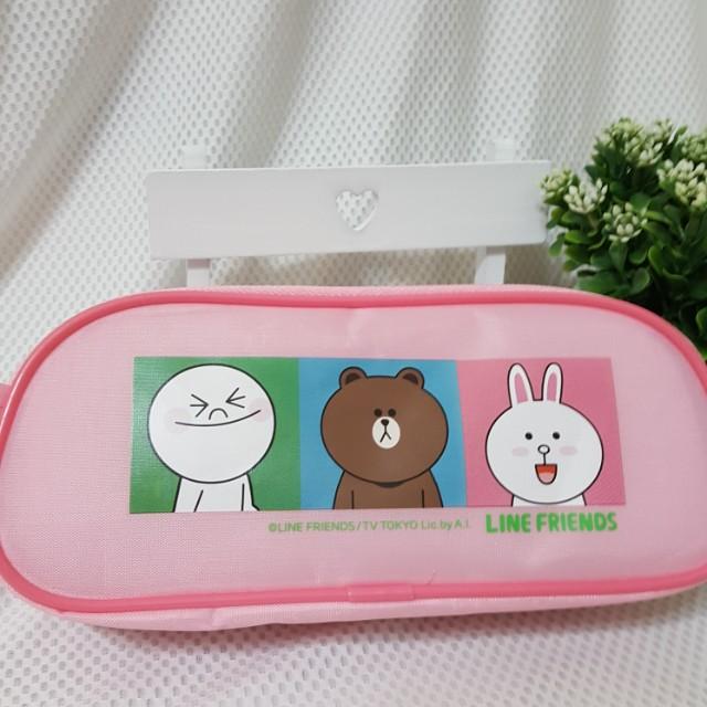 LINE 熊大 化妝包 鉛筆盒 筆袋