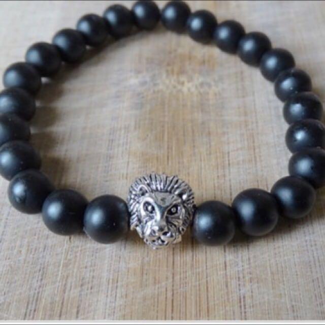 Lion Onyx Bracelet