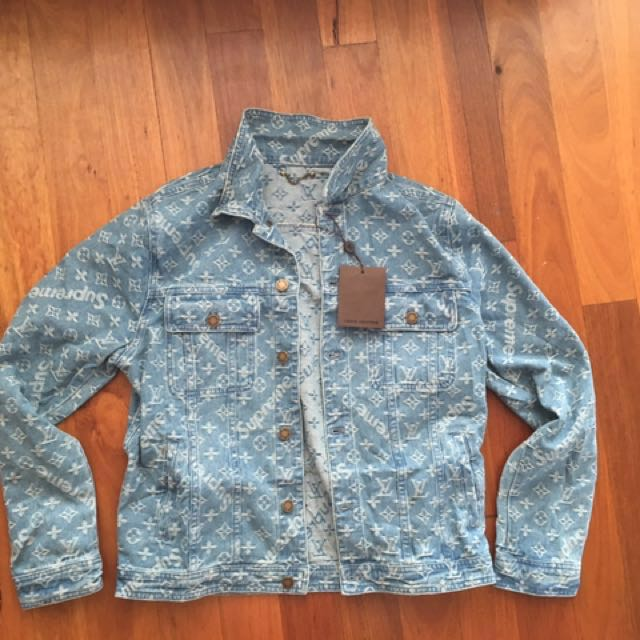 Louis Vuitton x supreme denim jacket