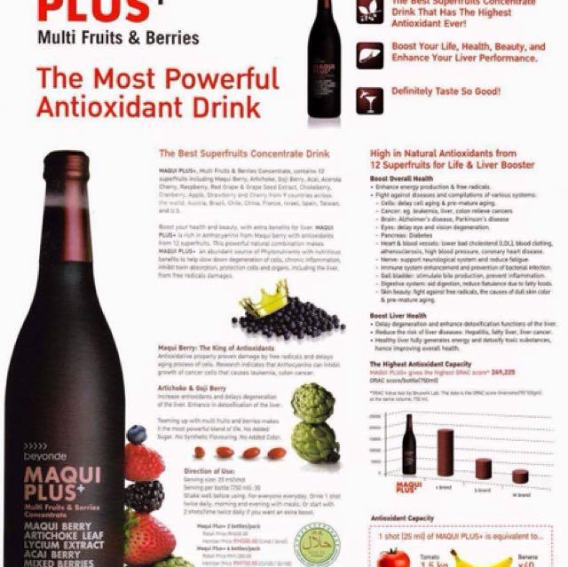 Maqui drink antioxidants