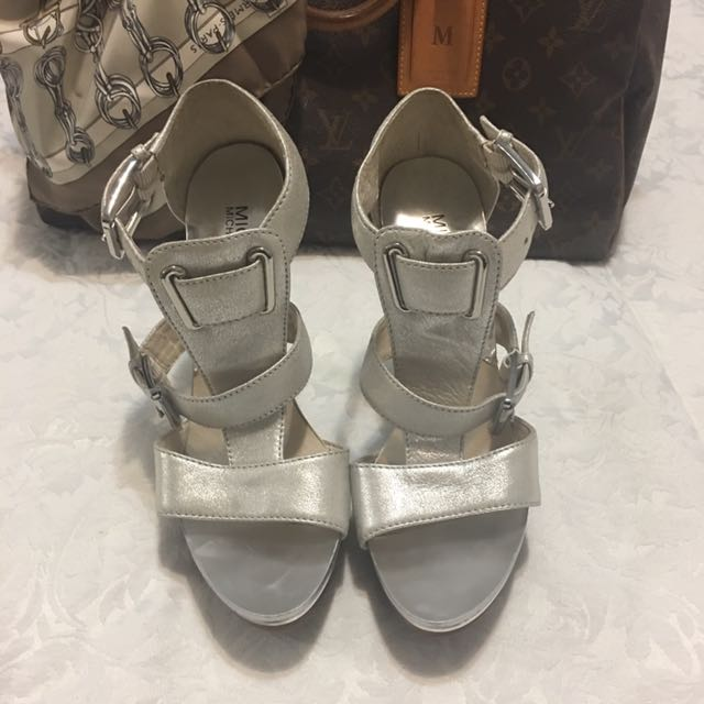 Micheal by Micheal Kors silver heels