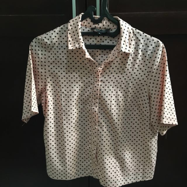 New Look Pink Crop Shirt