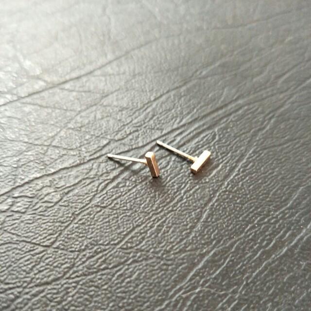 NEW Tiny Gold Bar Stud Earrings - Dash, Minimal, Classic, Dainty, Small
