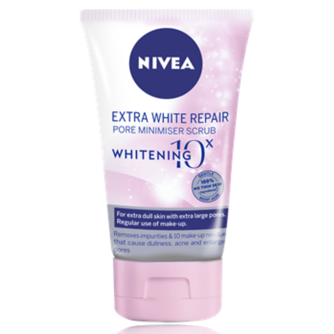 Nivea Extra White Repair Pore Minimiser Scrub 10x Whitening (100g)