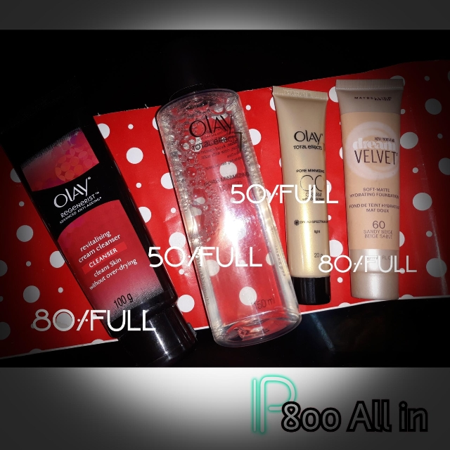 SALE : olay products plus maybelline