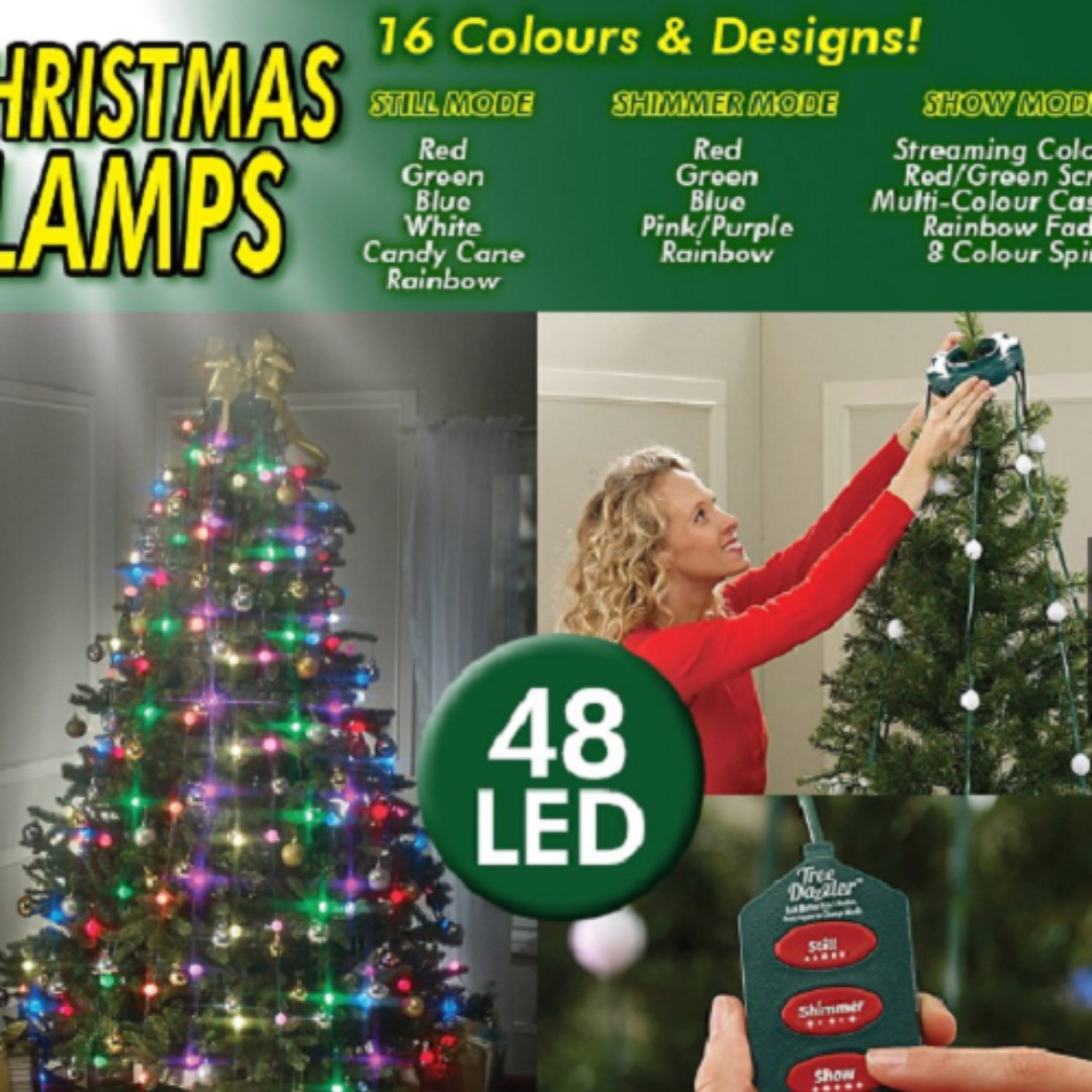 Outdoor 48 LED Bulbs Tree Dazzler Lights Multicolor Christmas Tree ...