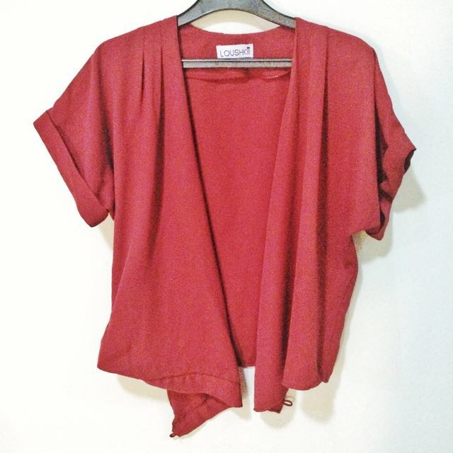 Outer Blouse Merah (multi ways to wear)