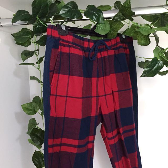 Peter Alexander Tartan Red / Navy Long PJ Pants