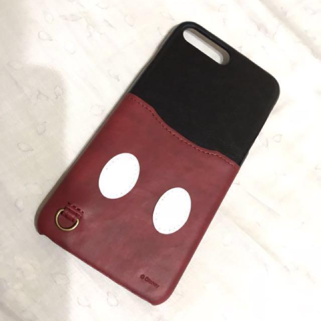 (日本PGA)Iphone7 Plus & 8Plus迪士尼海外限定皮革口袋系列-米奇