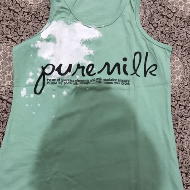 Pure milk tank top green