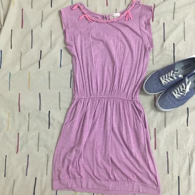 Purple Ragged Styled Dress
