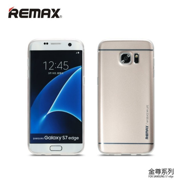 Remax softcase samsung s7 gold